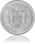 5 CHF Umlaufmünze...