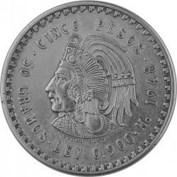 5 Pesos Mexiko Cu...
