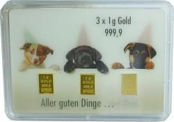 Goldbarren 3x1g -...