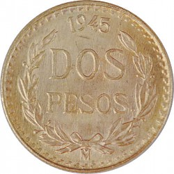2 Pesos Mexico 1,...