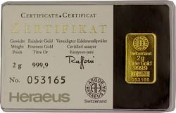 Goldbarren 2 Gram...