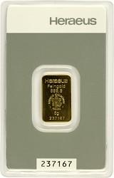 Goldbarren 5g - H...