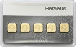 Goldbarren 5x1g -...