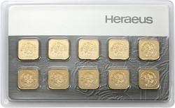 Goldbarren 10x1g ...